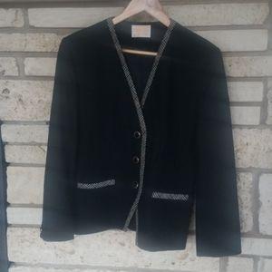 Pendleton wool jacket black with plaid womens L